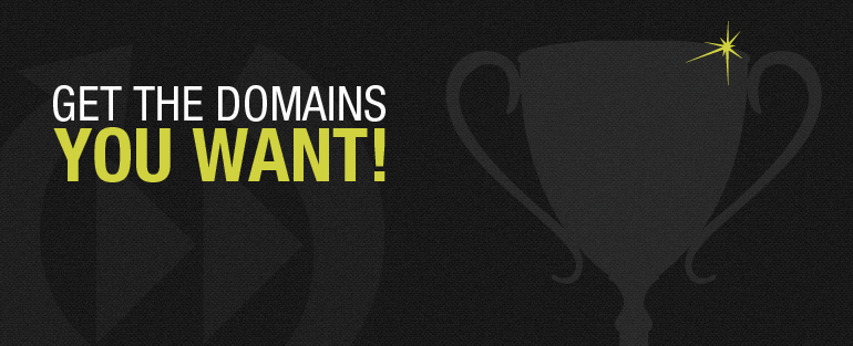 Get the domain you want.